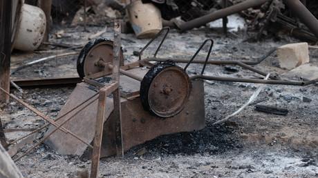 Conséquences d'un bombardement à Khodzhavend (Martuni), le 28 septembre, dans la République autoproclamée du Haut-Karabagh (image d'illustration).