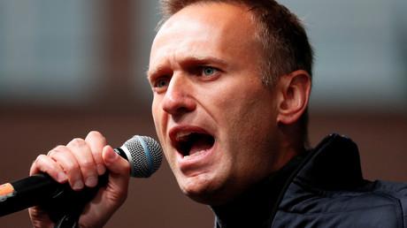 Alexeï Navalny lors d'un meeting à Moscou, le 29 septembre 2019