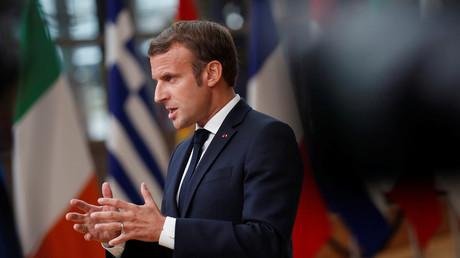 Emmanuel Macron, le 1er octobre à Bruxelles.