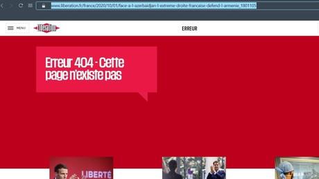 Capture d'écran effectuée sur le site du journal Libération.
