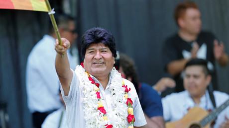 L'ancien président bolivien Evo Morales assiste à une célébration de la Journée de la fondation de l'Etat plurinational de Bolivie, à Buenos Aires (Argentine), le 22janvier 2020 (image d'illustration).
