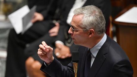 Le ministre français de l'Economie et des Finances, Bruno Le Maire, lors de la séance de questions au gouvernement, le 29 septembre 2020 à l'Assemblée nationale à Paris (illustration).