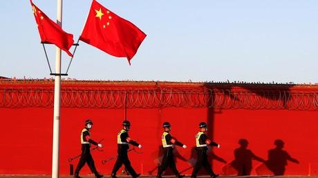 Patrouille de police à Pékin (image d'illustration)