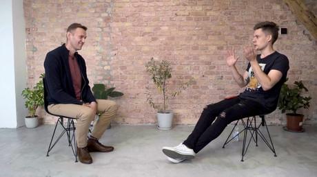Alexeï Navalny lors de son interview à Iouri Doud (capture d'écran)