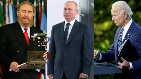 Fidel Castro et Vladimir Poutine : deux personnages que n'apprécie guère Joe Biden.