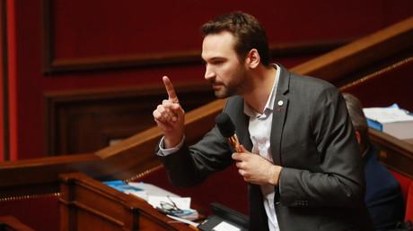 Ugo Bernalicis lors d'un débat sur la réforme des retraites à l'Assemblée nationale, février 2020 (image d'illustration).