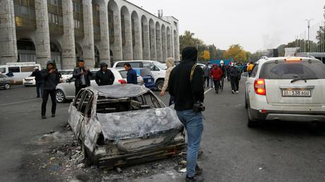 Les rues de Bichkek, le 6 octobre 2020.