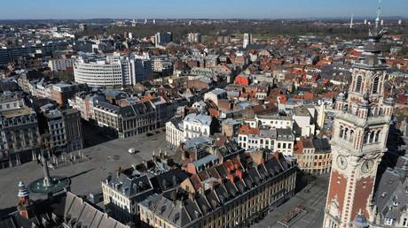 Vue aérienne sur la ville de Lille