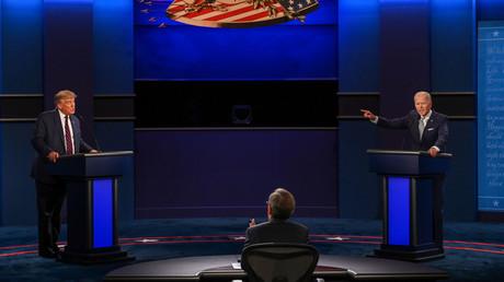 Le président américain Donald Trump et le candidat démocrate Joe Biden, lors du débat présidentiel, le 29 septembre (image d'illustration).