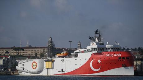 Le navire de recherche sismique turc Oruc Reis à Istanbul le 13 août 2019. (Image d'illustration)