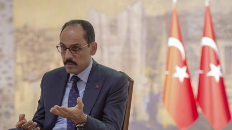 Le directeur de la communication de la présidence turque İbrahim Kalın, le 19 octobre 2019 à Istanbul (image d'illustration).