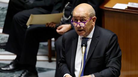 Jean-Yves Le Drian à l'Assemblée nationale