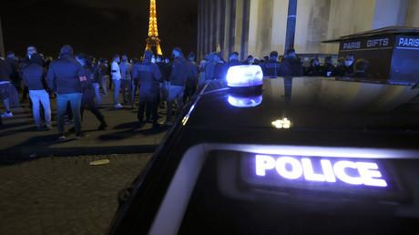 Les policiers en colère se rassemblent à Paris, place du Trocadéro le 14 juin 2020 (image d'illustration).