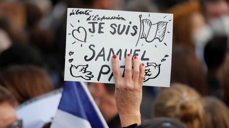 Rassemblement en hommage à Samuel Paty à Paris (image d'illustration).