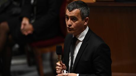 Le ministre de l'Intérieur, Gérald Darmanin à l'Assemblée nationale le 6 octobre