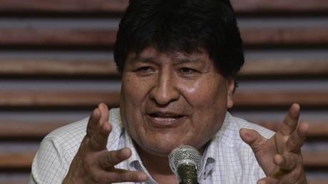 L'ancien président bolivien Evo Morales lors d'une conférence de presse à Buenos Aires le 19 octobre 2020 (image d'illustration).