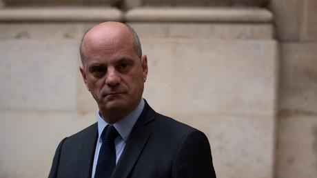 Jean-Michel Blanquer en conférence de presse à Paris le 17 octobre après l'assassinat de Samuel Paty (image d'illustration).