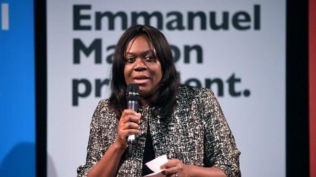 Laetitia Avia le 8 mars 2017 à Paris pendant la campagne présidentielle d'Emmanuel Macron (image d'illustration).