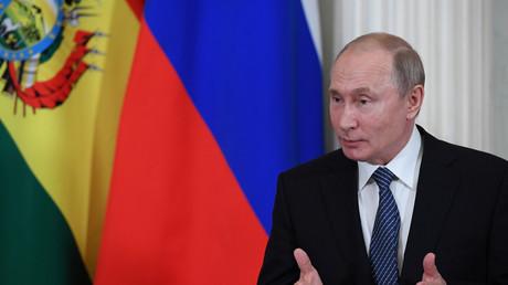 Le président russe, Vladimir Poutine, lors d'une rencontre avec l'ancien président bolivien Evo Morales, le 11 juillet 2019 à Moscou (image d'illustration).