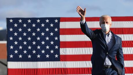 Le candidat démocrate à l'élection présidentielle américaine Joe Biden dans la ville de Dallas en Pennsylvanie, le 24 octobre 2020 (image d'illustration).