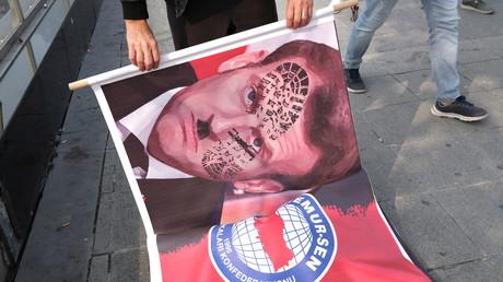 Manifestation en Turquie contre Emmanuel Macron ce 27 octobre (image d'illustration).