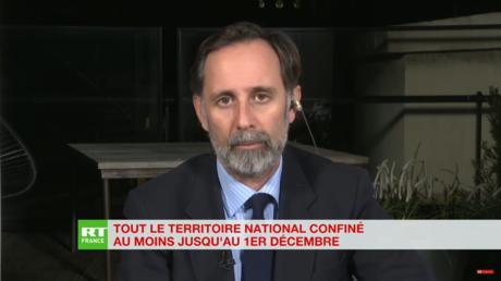 Alexis Poulin, éditorialiste, pour l'éditions spéciale sur RT France