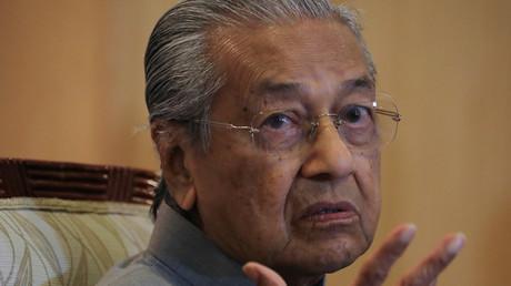 L'ancien Premier ministre de Malaisie Mahathir Mohamad lors d'une conférence de presse à Putrajaya, le 3 septembre 2020.