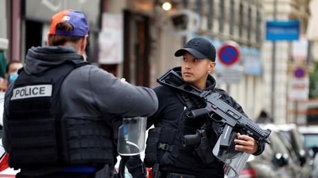 Les forces de sécurité intérieure se déploient autour du lieu de l'attaque à Nice le 29 octobre 2020 (image d'illustration).
