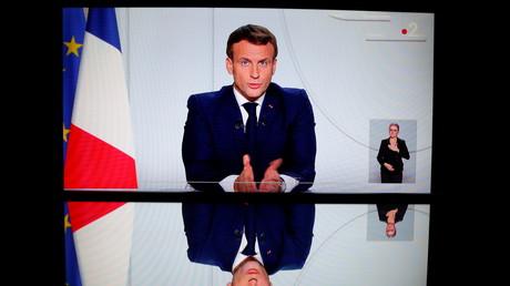 Allocution télévisée d'Emmanuel Macron annonçant un reconfinement du territoire national le 28 octobre 2020 (image d'illustration).