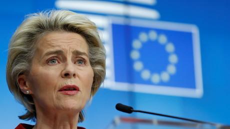 La présidente de la Commission européenne Ursula Von Der Leyen à Bruxelles, le 29 octobre 2020 (image d'illustration)