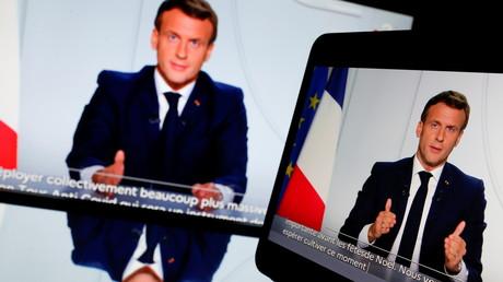 Le président français Emmanuel Macron lors de son adresse à la nation au sujet de l'état de l'épidémie de maladie à coronavirus (COVID-19) en France, le 28 octobre 2020. (image d'illustration)