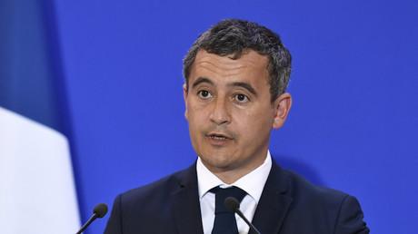 Le ministre de l'Intérieur Gérald Darmanin durant un discours sur l'état de la menace terroriste à la Direction générale de la sécurité intérieure (DGSI) à Paris le 31 août 2020 (image d'illustration).