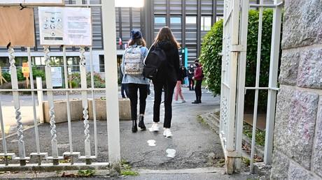 Entrée d'un lycée (image d'illustration).