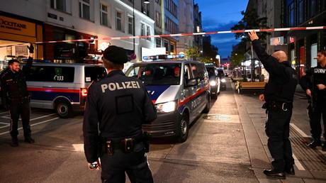 La police bloque une rue après l'attentat de Vienne (image d'illustration).