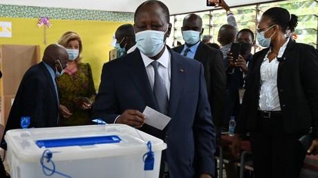 Alassane Ouattara, le 31 octobre 2020, à Abidjan, en Côte d'Ivoire (image d'illustration).