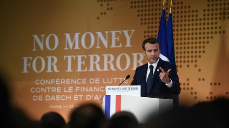 Le président français Emmanuel Macron lors d'une conférence au siège de l'OCDE à Paris, France, le 26 avril 2018 (image d'illustration).