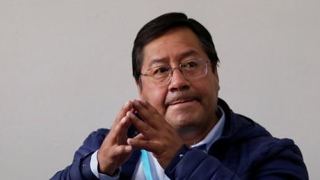 Luis Arce, candidat à la présidence du parti Mouvement pour le socialisme (MAS), à La Paz (Bolivie), le 18 octobre 2020 (image d'illustration).