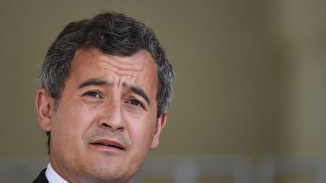 Le ministre de l'Intérieur Gérald Darmanin au Mans (Sarthe) le 12 août 2020 lors d'une cérémonie d'hommage à un policier mort dans un accident de voiture (image d'illustration).