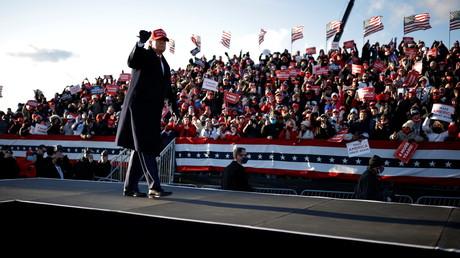 Le président américain Donald Trump lors d'un meeting en Pennsylvanie (image d'illustration).