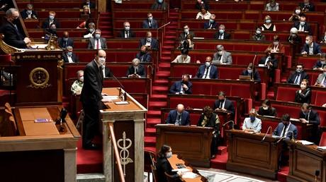 Le Premier ministre Jean Castex s'adresse aux députés au sujet des mesures prises contre la pandémie de Covid-19, le 29octobre 2020 (image d'illustration)