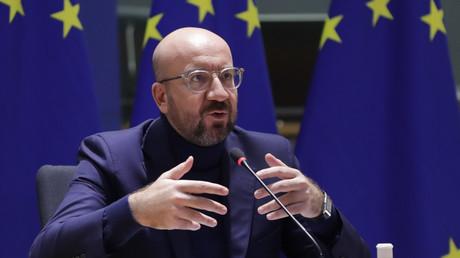 Charles Michel le 10 novembre 2020 à Bruxelles lors d'un sommet européen sur le terrorisme lié à l'islam radical.