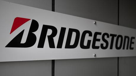 Le logo du géant du pneumatique, Bridgestone.