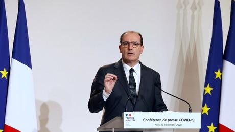 Jean Castex, Premier ministre français, en conférence de presse le 12 novembre 2020.