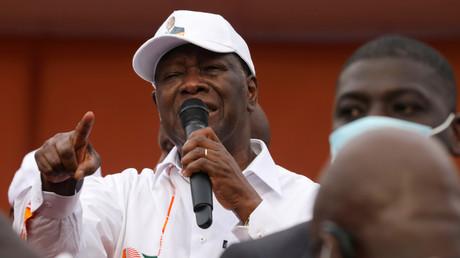 Alassane Ouattara En meeting politique le 31 octobre (image d'illustration).