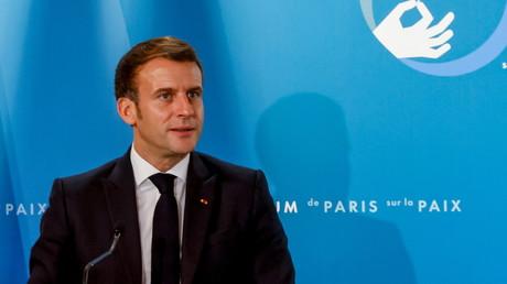 Emmanuel Macron au Forum pour la paix au Palais de l'Elysée, Paris, le 12 novembre (image d'illustration).