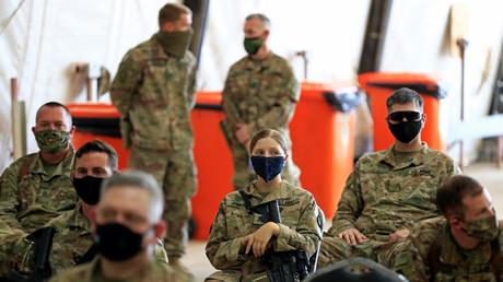 Des soldats américains dans la base de Taji au nord de Bagdad, en Irak, le 23 août 2020 (image d'illustration).