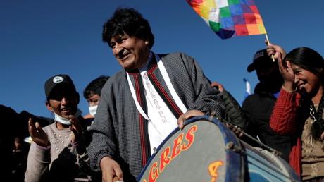 L'ancien président bolivien Evo Morales de retour dans son pays, à Uyuni, en Bolivie, le 10 novembre 2020 (image d'illustration).
