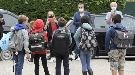 Rentrée scolaire à l'école européenne de Strasbourg, dans l'est de la France, le 1er septembre 2020. (Image d'illustration)