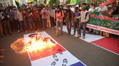Manifestation anti-française à Lahore (Pakistan), le 1ernovembre 2020 (image d'illustration).