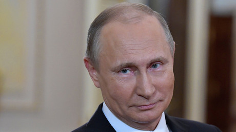 Vladimir Poutine lors d'une célébration de la Journée internationale de la femme le 8 mars 2018 (image d'illustration).